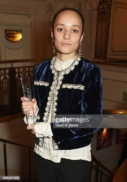 Grace Wales Bonner winner of the Emerging Talent Award attends the British Fashion Awards in partnership with Swarovski at the London Coliseum on...