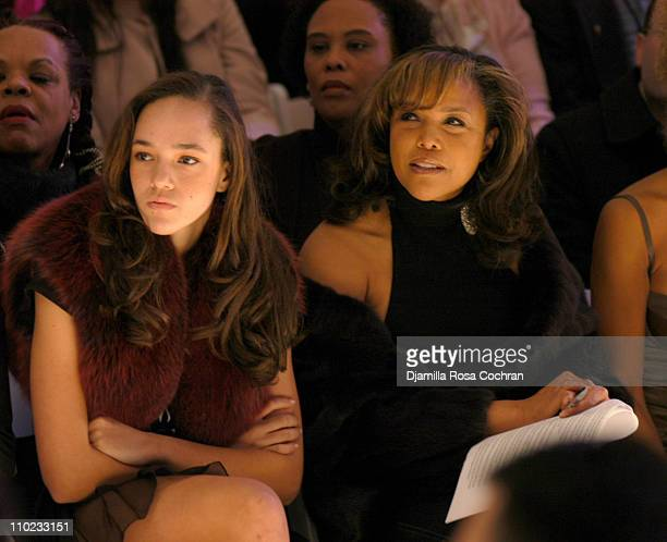 Grace Whitfield and Lynn Whitfield during Olympus Fashion Week Fall 2005 Zang Toi Front Row at The Plaza Bryant Park in New York City New York United...