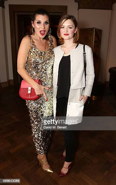 Grace Woodward and Holliday Grainger attend the unveiling of a very special Malone Souliers Christmas tree, in support of Starlight Children's...