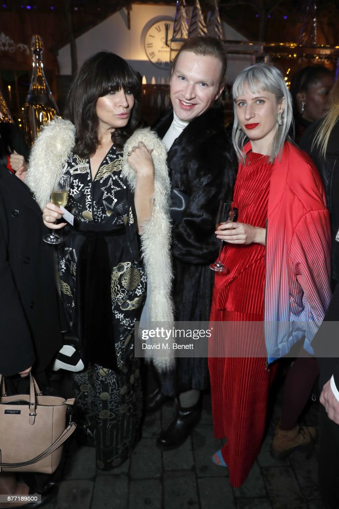 Grace Woodward, Henry Conway and Kitty Joseph attend a Christmas Party at Rosewood London to celebrate the launch of Rosewood Mini Wishes, in aid of Great Ormond Street Hospital Children's Charity (GOSH) at Rosewood Hotel on November 21, 2017 in London, England.
