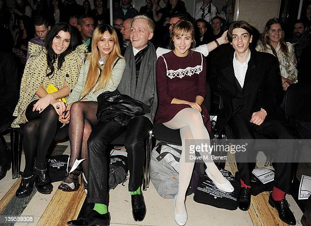 Grace Woodward Zara Martin Mr Hudson Suki Waterhouse and Sascha Bailey attend the James Small Menswear Autumn/Winter 2012 show at the Vauxhall...