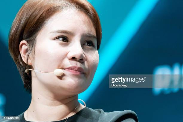 Grace Yin director of Tencent Holdings Ltd's WeChat Pay listens during the Rise conference in Hong Kong China on Wednesday July 11 2018 The...