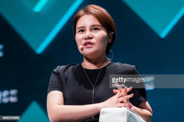 Grace Yin director of WeChat Pay WeChat attends Day 2 of the RISE Conference 2018 at Hong Kong Convention and Exhibition Centre on July 11 2018 in...