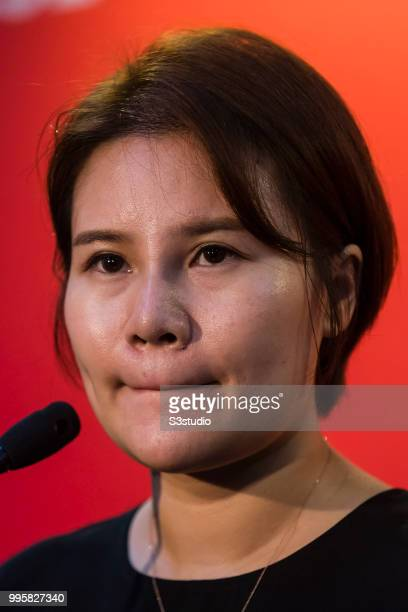 Grace Yin director of WeChat Pay WeChat talks to media during the Day 2 of the RISE Conference 2018 at Hong Kong Convention and Exhibition Centre on...