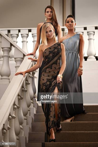graceful and elegant - evening wear stock pictures, royalty-free photos & images