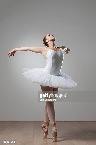 graceful ballet dancer in tutu - ballet dancer stock pictures, royalty-free photos & images