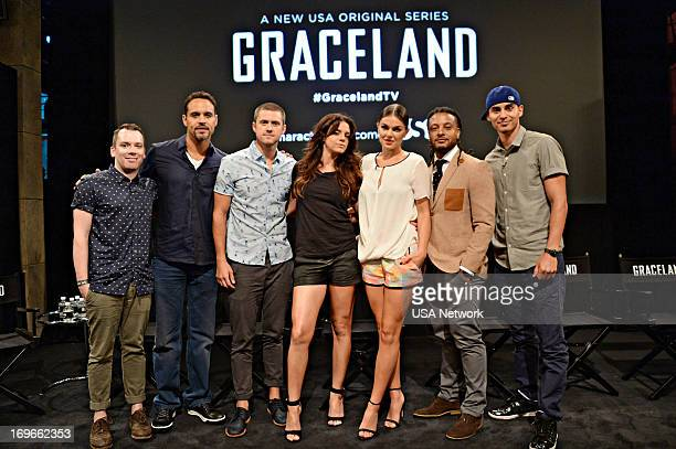 EVENTS Graceland Screening in New York City on Wednesday May 29 2013 Pictured Daniel Sunjata Aaron Tveit Vanessa Ferlito Serinda Swain Brandon Jay...