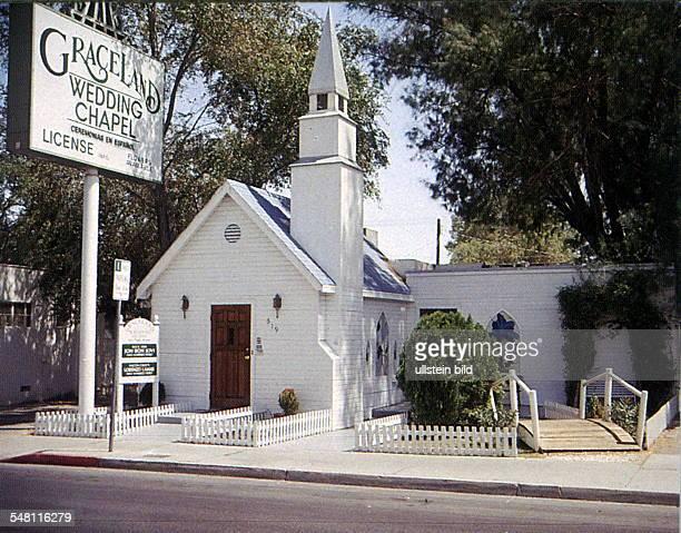 Graceland Wedding Chapel auf dem Las Vegas Boulevard, South - 1997