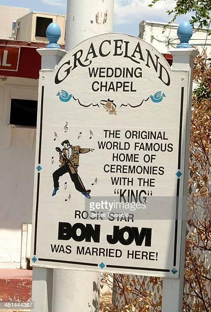 Graceland Wedding Chapel during Las Vegas Wedding Chapels at Las Vegas Boulevard in Las Vegas, Nevada.