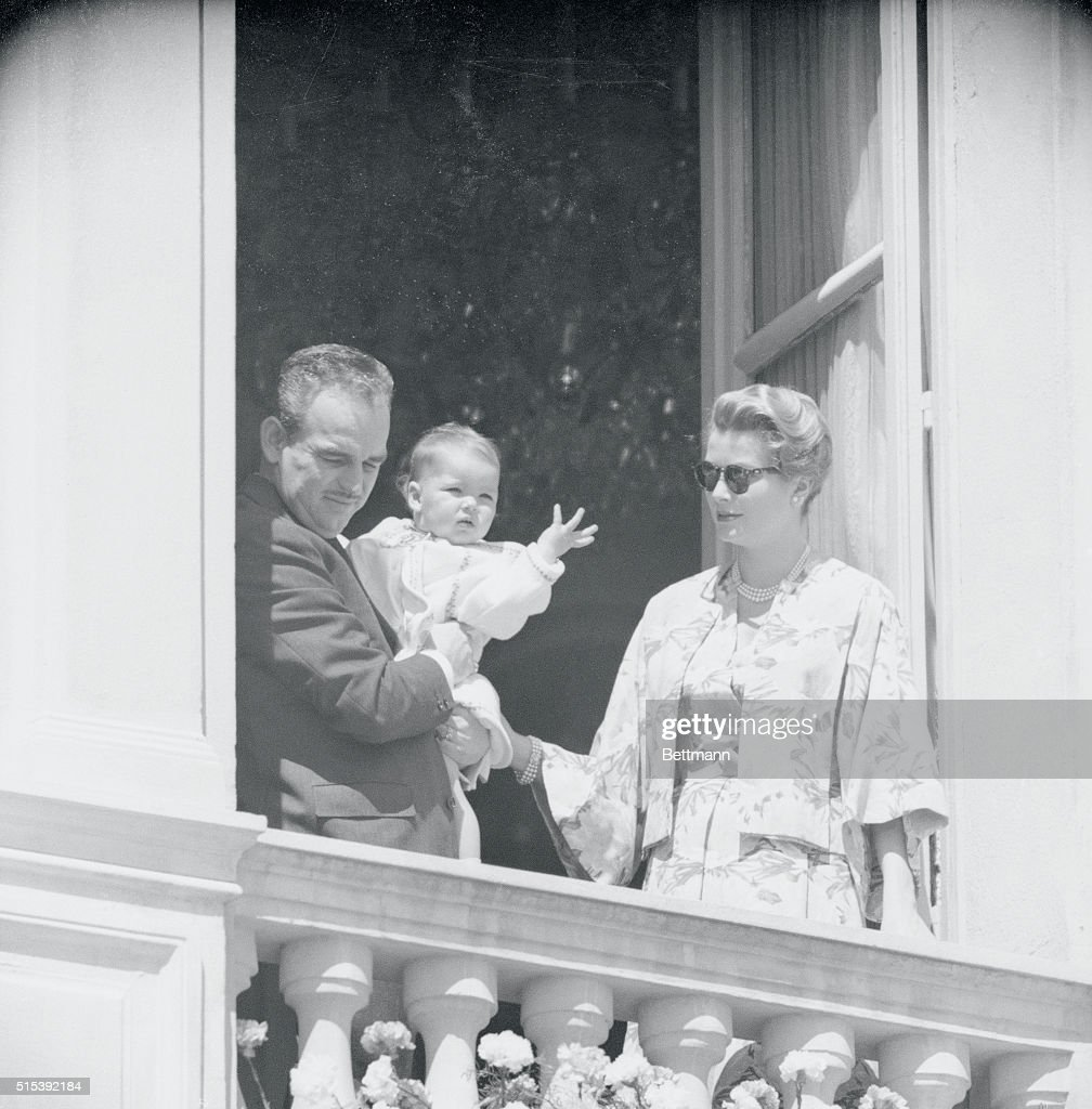 Prince Rainier with His Wife and Daughter : News Photo