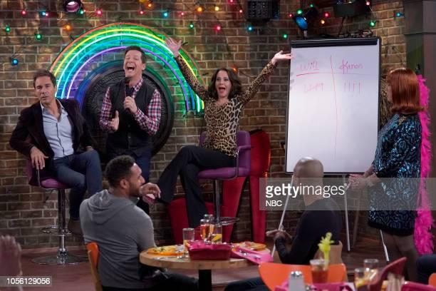 "Grace's Secret"" Episode 208 -- Pictured: Eric McCormack as Will Truman, Sean Hayes as Jack McFarland, Megan Mullally as Karen Walker, Clinton Leupp..."