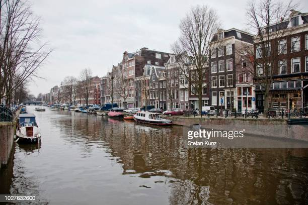 Gracht or canal, Amsterdam, The Netherlands