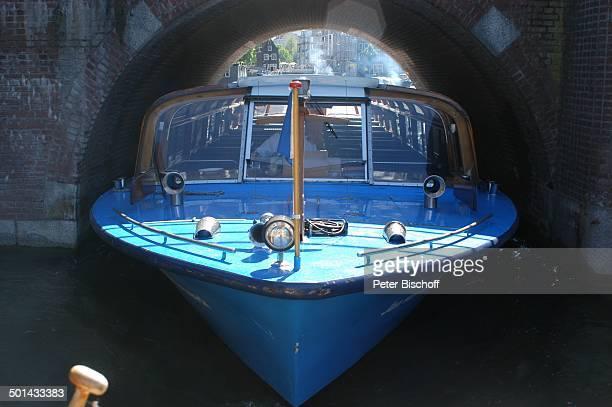 Grachtenkanal Amsterdam Niederlande Holland Europa Boot Brücke Gracht Kanal Reise BB DIG PNr 941/2005