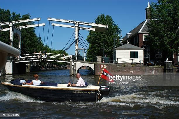 Grachtenkanal Amsterdam Niederlande Holland Europa Boot Gracht Kanal Brücke Reise BB DIG PNr 941/2005