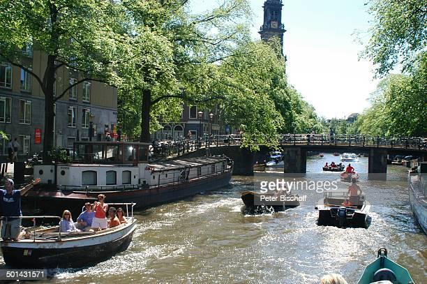 Grachtenkanal Amsterdam Niederlande Holland Europa Boot Schiff Gracht Kanal Reise BB DIG PNr 941/2005