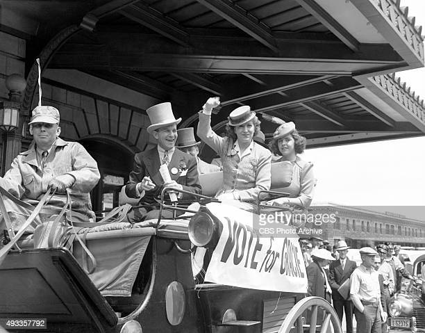 Gracie Allens farcical run for President of the United States in 1940 Campaigning under the Surprise Party platform Allen with husband George Burns...