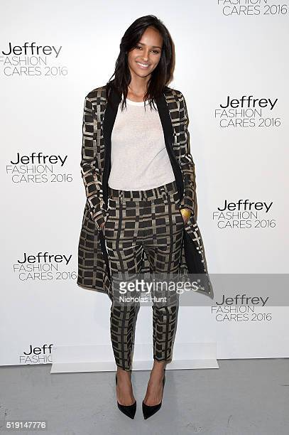 Gracie Carvalho attends the Jeffrey Fashion Cares 13th Annual Fashion Fundraiser at the Intrepid SeaAirSpace Museum on April 4 2016 in New York City