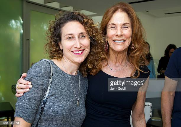 Gracie DeVito and Pamela Hollander attend the Rema Hort Mann Foundation conversation with Susan and Michael Hort on September 28 2013 in Los Angeles...