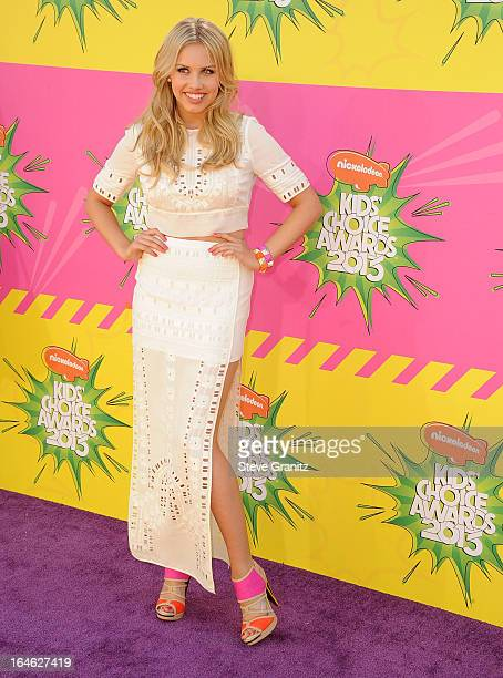 Gracie Dzienny arrives at the Nickelodeon's 26th Annual Kids' Choice Awards at USC Galen Center on March 23 2013 in Los Angeles California