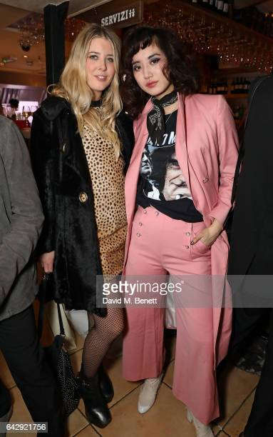Gracie Egan and Betty Bachz attend the Pam Hogg aftershow party during the London Fashion Week February 2017 collections at Bunga Bunga on February...