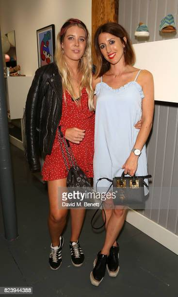 Gracie Egan and Francesca Gamble attend the Saira Shoes Summer Party on Shoreditch High Street on July 27 2017 in London England