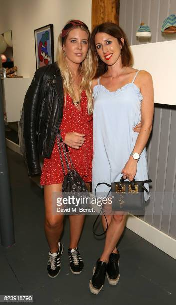 Gracie Egan and Francescsa Gamble attend the Saira Shoes Summer Party on Shoreditch High Street on July 27 2017 in London England