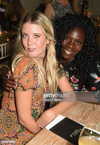Gracie Egan and Jeni Cook attend Krug Island a food and music experience hosted by Krug champagne on September 1 2016 in Maldon England