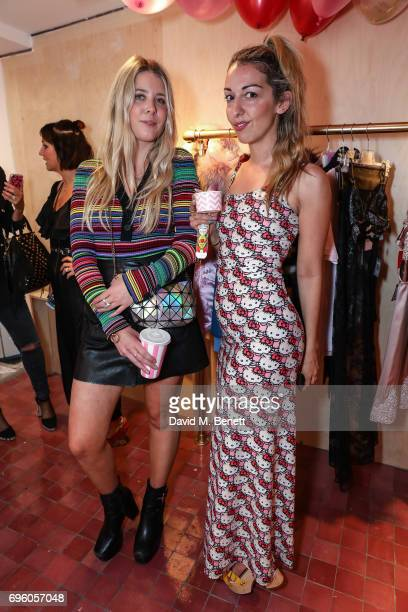 Gracie Egan and Shirra Smilansky attend the Arty Farty Fashion Party launch on June 14 2017 in London England