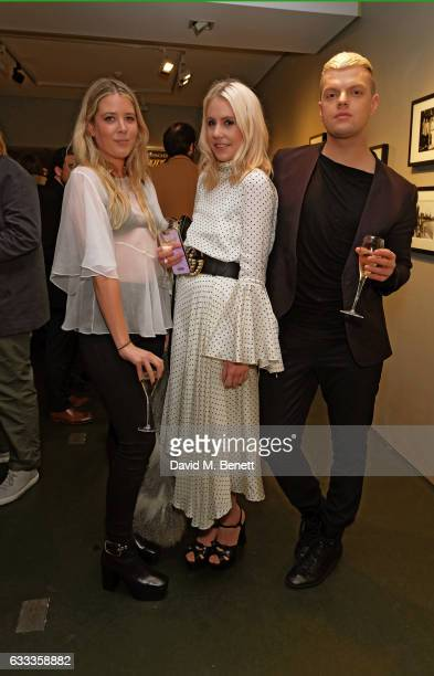 Grace Egan India Rose James and Miguel Dare attend a private view of 'A Paul Raymond Show' an exhibition curated by Alex Wood and India Rose James at...