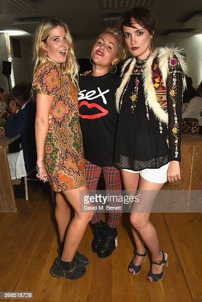 Gracie Egan Jaime Winstone and Lauren Estelle Jones attend Krug Island a food and music experience hosted by Krug champagne on September 1 2016 in...