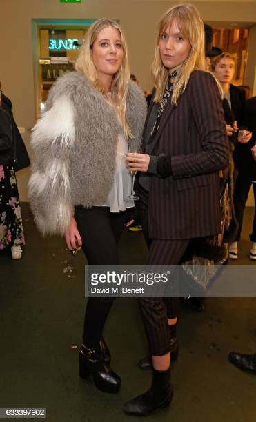 Grace Egan Jana Sacha Haveman attend a private view of 'A Paul Raymond Show' an exhibition curated by Alex Wood and India Rose James at Soho Revue on...