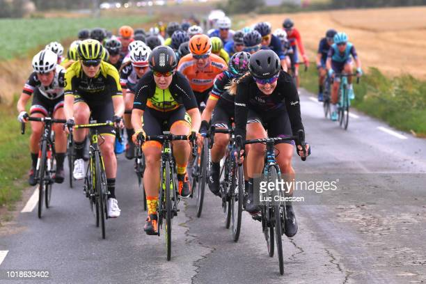 Gracie Elvin of Australia and Team MitcheltonScott / Chloe Hosking of Australia and Team Ale Cipollini / Alexis Ryan of The United States and Team...