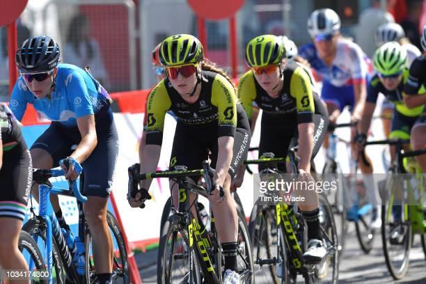 Gracie Elvin of Australia and Team MitcheltonScott / Jolien DHoore of Belgium and Team MitcheltonScott / during the 4th Madrid Challenge by la Vuelta...
