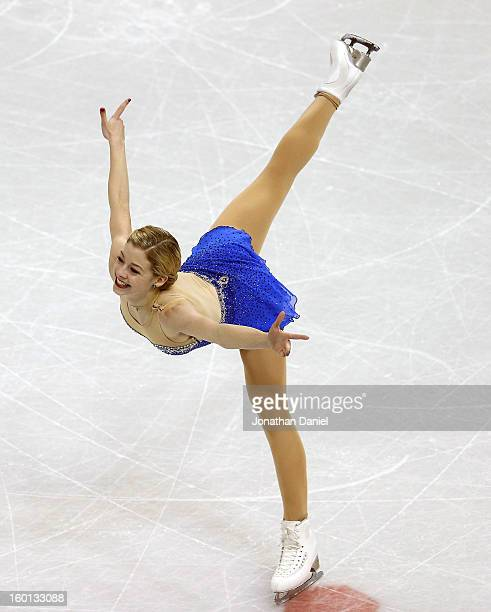 Gracie Gold competes in the Ladies Free Skate during the 2013 Prudential U.S. Figure Skating Championships at CenturyLink Center on January 26, 2013...