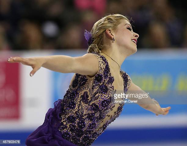 Gracie Gold competes in the Ladies Free Skating during the 2014 Hilton HHonors Skate America competition at the Sears Centre Arena on October 26 2014...