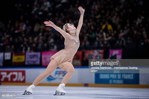 Gracie Gold of the United States competes during Ladies Free Skating on day two of the Trophee de France ISU Grand Prix of Figure Skating at...