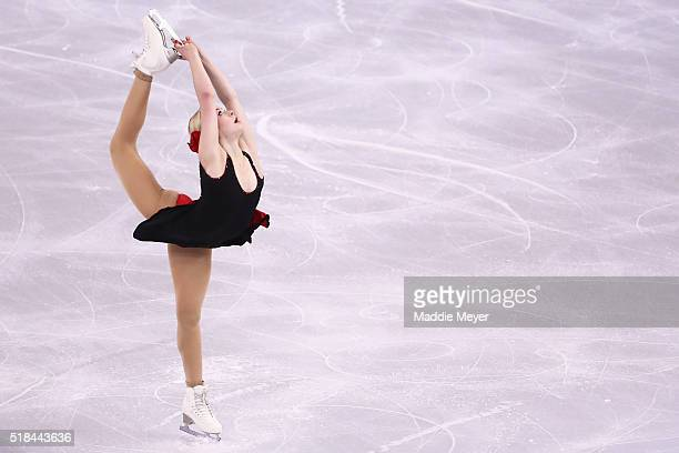 Gracie Gold of the United States skates in the Ladies Short Program during Day 4 of the ISU World Figure Skating Championships 2016 at TD Garden on...