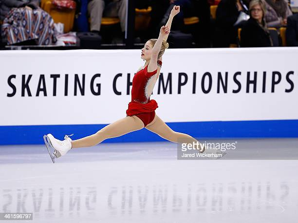 Gracie Gold skates in the short program during the 2014 Prudential US Figure Skating Championships at TD Garden on January 9 2014 in Boston...