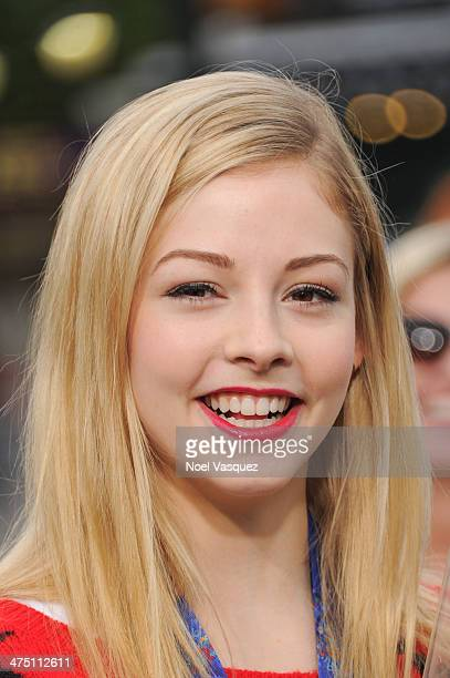 Gracie Gold visits 'Extra' at Universal Studios Hollywood on February 26 2014 in Universal City California