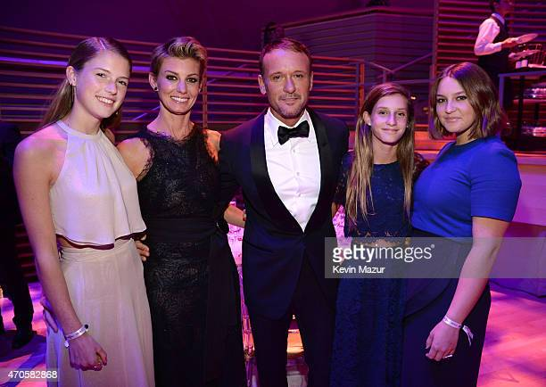 Gracie McGraw Faith Hill Tim McGraw Audrey McGraw and Maggie McGraw attend TIME 100 Gala TIME's 100 Most Influential People In The World at Jazz at...