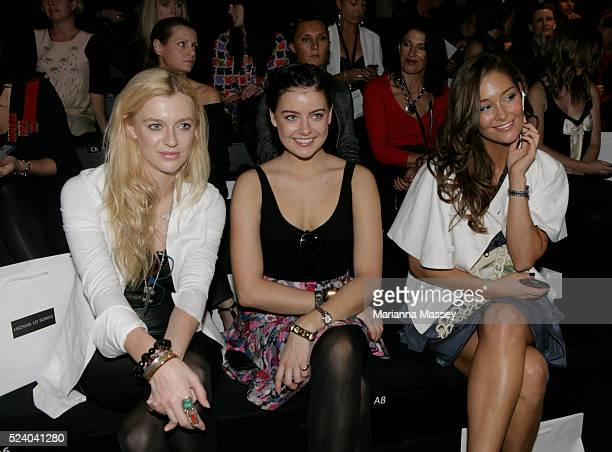 Gracie Otto April Rose Pengilly and Erin McNaught attend the 'Michael Lo Sordo' Spring/Summer 2009/2010 collection during Day 5 of Rosemount...