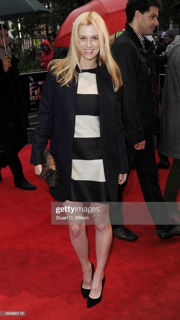 Gracie Otto attends a screening of 'The Last Impresario' during the 57th BFI London Film Festival at Odeon West End on October 13, 2013 in London, England.