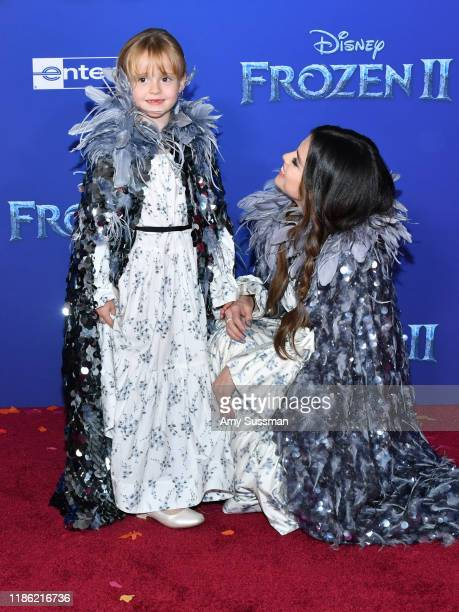 Gracie Teefey and Selena Gomez attend the premiere of Disney's Frozen 2 at Dolby Theatre on November 07 2019 in Hollywood California