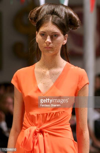 Gracie wearing Peter Jensen Spring/Summer 2006 during London Fashion Week Spring/Summer 2006 Peter Jensen Runway and Backstage at Berkeley Square in...