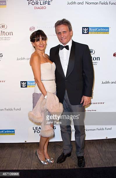 Graciela Boria and Mayor of Doral Luigi Boria attend Dress for Success Miami Celebrates 20th Anniversary at The Rusty Pelican on October 11 2014 in...