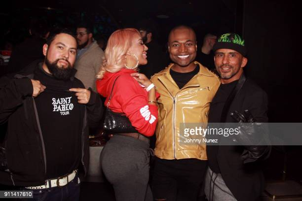 Graciela Odain Watson Armando Figuergo and Jay Falcon attend the Lexy Panterra PreGrammy Party at W Hotel Times Square on January 27 2018 in New York...