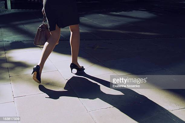 gracious female leader - high heels stock pictures, royalty-free photos & images