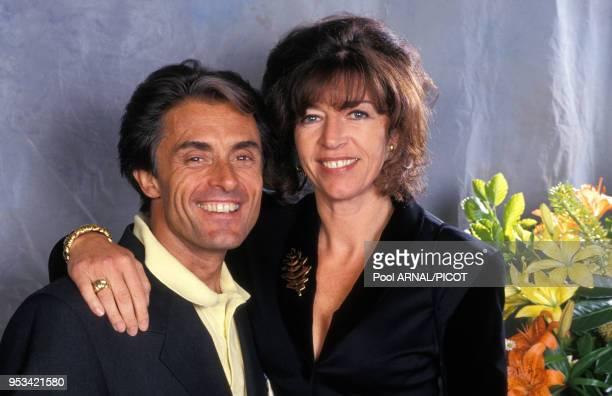 Gérad Holtz et son épouse Framboise en juin 1994 à Paris France