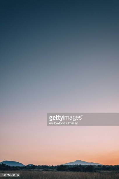 Gradation on the Sky Created by Sunset in Hallasan National Park, Jeju, Korea