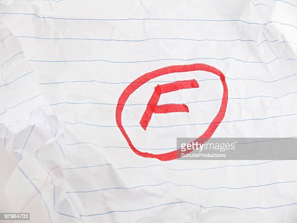 Grado F en papel